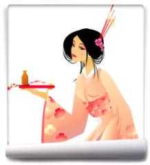 Fototapeta - pretty geisha