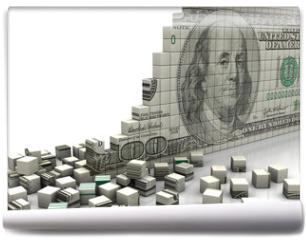 Fototapeta - Puzzle dollar
