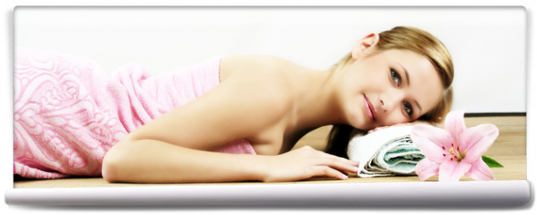 Fototapeta - relaxing in spa