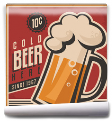 Fototapeta - Retro beer vector poster