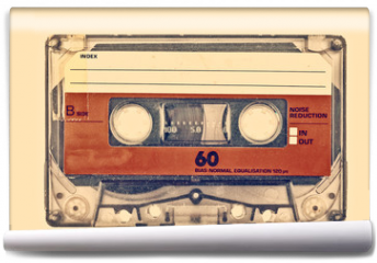 Fototapeta - Retro styled image of an old compact cassette