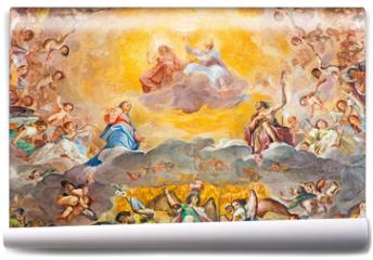 Fototapeta - Rome - The Glory of Heaven fresco (1630) in main apse of church Basilica di Santi Quattro Coronati
