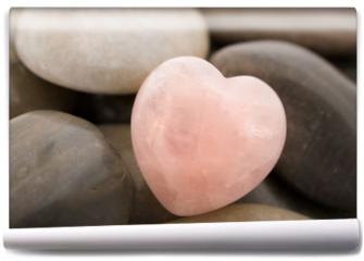 Fototapeta - rose quartz heart