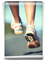 Fototapeta - Runnning shoes on runner