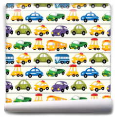 Fototapeta - seamless car pattern