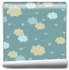 Fototapeta - Seamless pattern with clouds