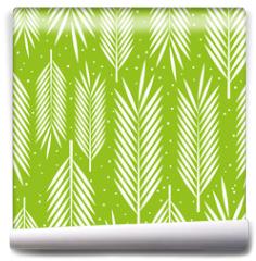 Fototapeta - Seamless pattern with palm leaves ornament