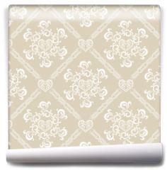 Fototapeta - Seamless White Floral Pattern
