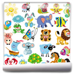 Fototapeta - set  with pictures for children