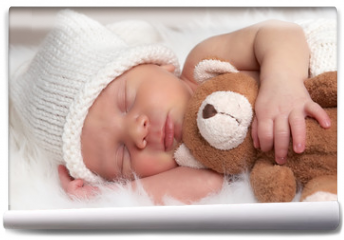 Fototapeta - sleeping newborn