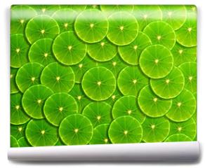 Fototapeta - Slice of fresh lemon background