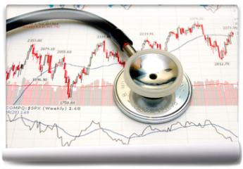 Fototapeta - stock chart analysis - concept