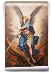 Fototapeta - Tel Aviv - paint of archangel Michael from st. Peters church