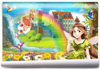 Fototapeta - The fairy - Beautiful Manga Girl - illustration