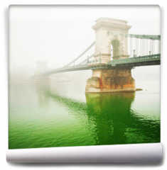 Fototapeta - The famous Chain Bridge in Budapest, Hungary