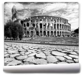 Fototapeta - The Majestic Coliseum, Rome, Italy.