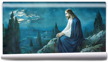 Fototapeta - The prayer of Jesus in the Gethsemane garden.