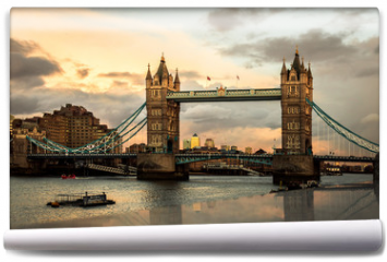 Fototapeta - Tower Bridge ao por do sol.