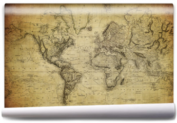 Fototapeta - vintage map of the world 1814..