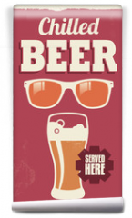 Fototapeta - Vintage retro beer sign - vector poster design