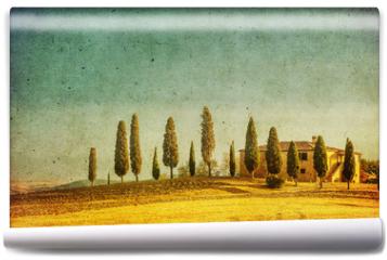 Fototapeta - vintage tuscan landscape