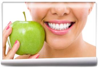 Fototapeta - woman with an apple