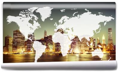 Fototapeta - World Global Cartography Globalization Earth International Conce