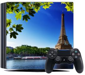 Naklejka na konsolę - Sekwana i Wieża Eiffla w Paryżu