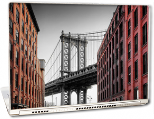 Naklejka na laptopa - Manhattan Bridge from Washington Street, Brooklyn
