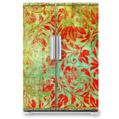 Naklejka na lodówkę - retro floral patterns