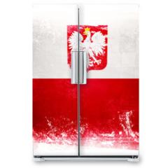 Naklejka na lodówkę - Flaga Polski