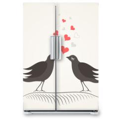 Naklejka na lodówkę - Love a bird2