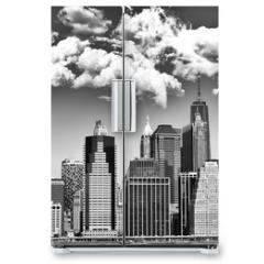 Naklejka na lodówkę - Manhattan skyline