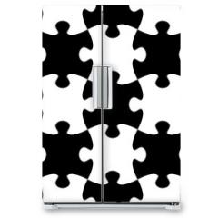 Naklejka na lodówkę - Jigsaw puzzle seamless pattern