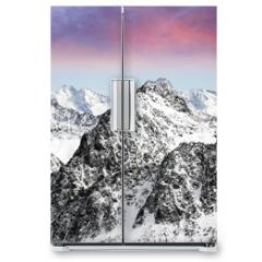 Naklejka na lodówkę - alps