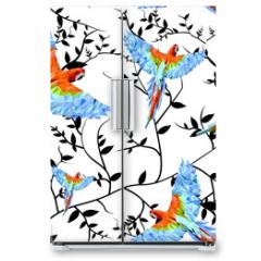 Naklejka na lodówkę - Papuga geometryczna1