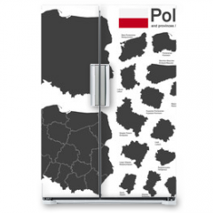 Naklejka na lodówkę - country Poland and voivodeships