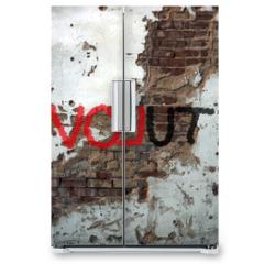 Naklejka na lodówkę - Révolution, graffiti