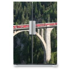 Naklejka na lodówkę - Rhätische Bahn - Wiesener Viadukt