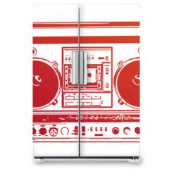 Naklejka na lodówkę - Vector illustration of vintage boombox