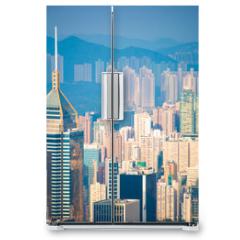 Naklejka na lodówkę - Skyscraper view from the Peak Tower, landmark of Hong Kong