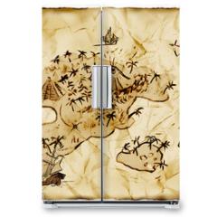 Naklejka na lodówkę - Schatzkarte, Illustration