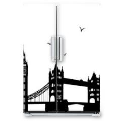 Naklejka na lodówkę - London Skyline schwarz