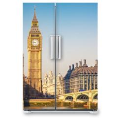 Naklejka na lodówkę - Big Ben and westminster bridge in London