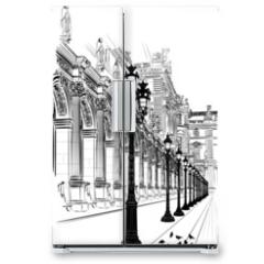 Naklejka na lodówkę - Paris: Classical architecture