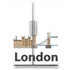 Naklejka na lodówkę - London vector city skyline