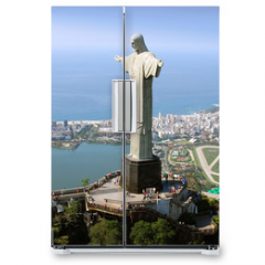 Naklejka na lodówkę - Aerial view of Christ the Redeemer Monument and Rio De Janeiro