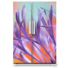 Naklejka na lodówkę - colourful lowers