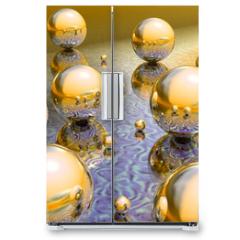 Naklejka na lodówkę - mirrorball_et