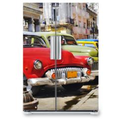 Naklejka na lodówkę - Colorful Havana cars